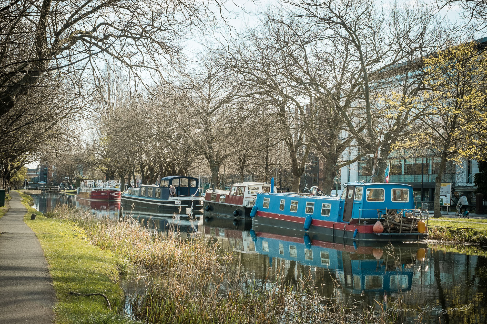 Barges on the Canal - Fuji XE-1