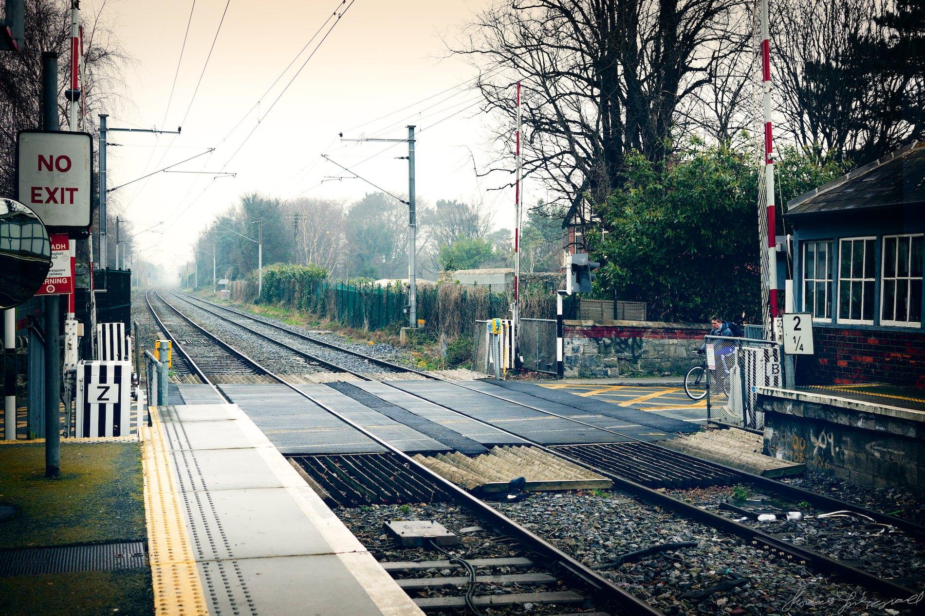 Foggy Train tracks with Nex-7