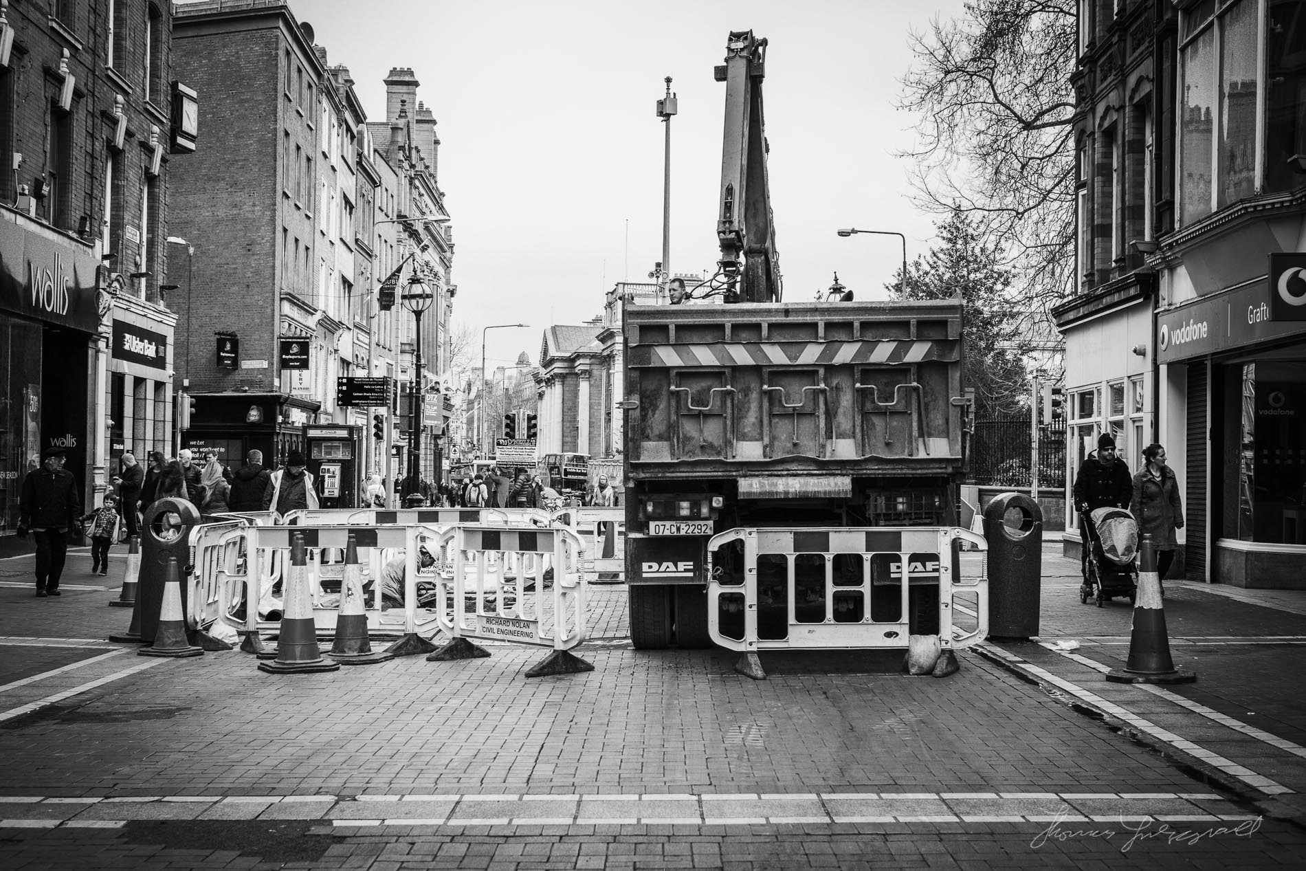 Construction Work on Grafton Street