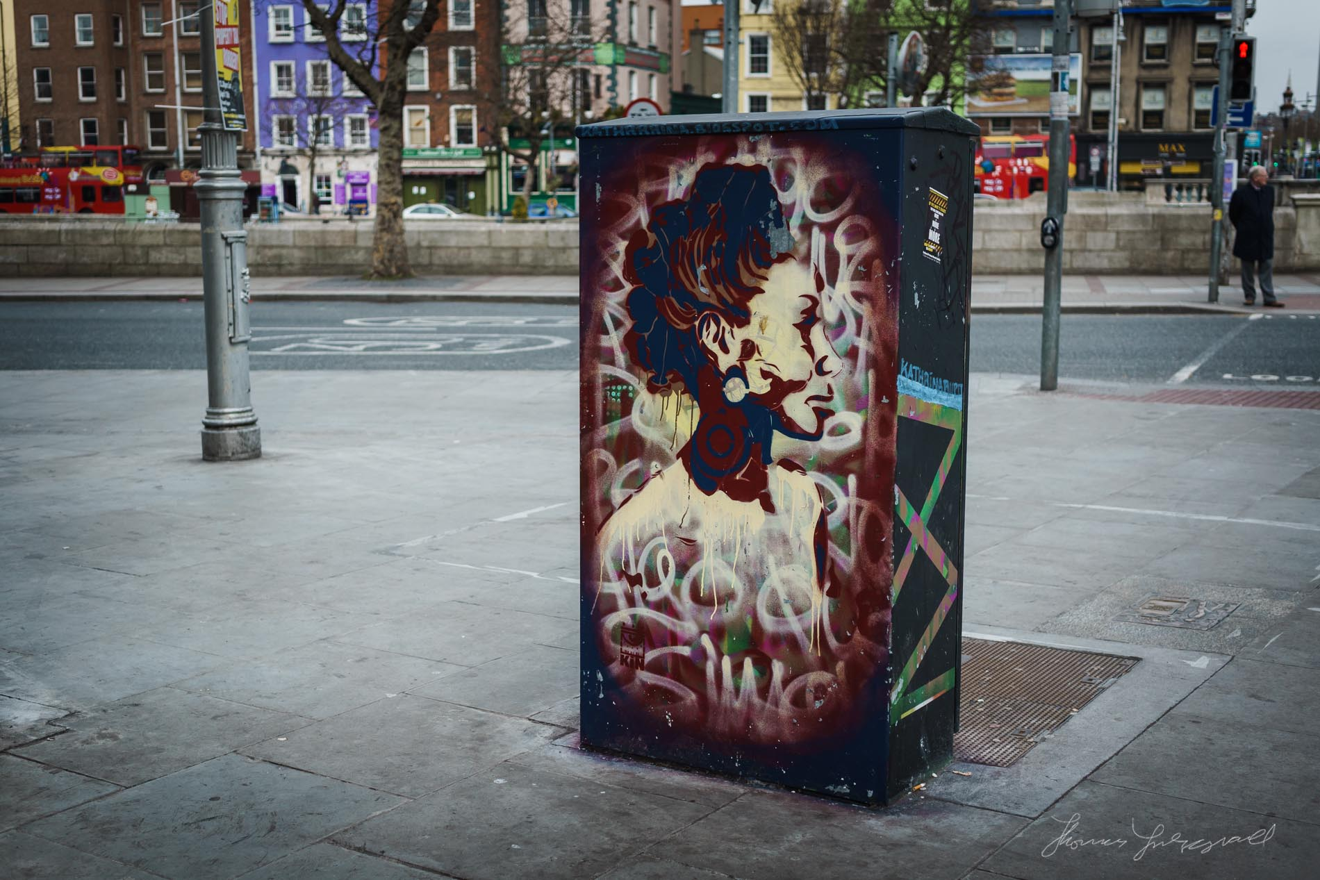 Graffiti Covered Junction Box