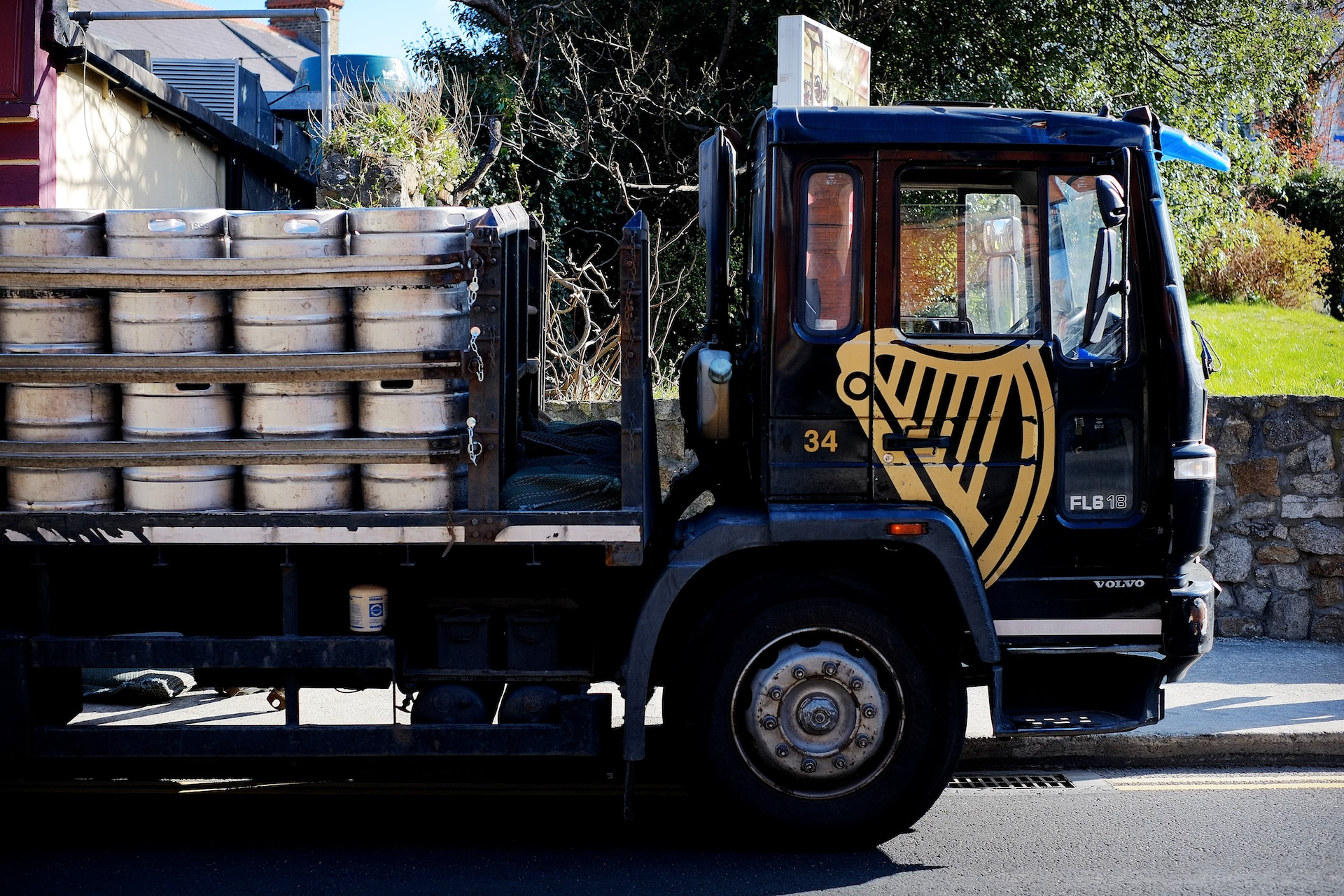 Guinness Truck with kegs on board