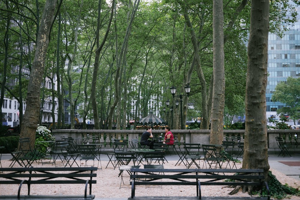 Discussing things in bryant park