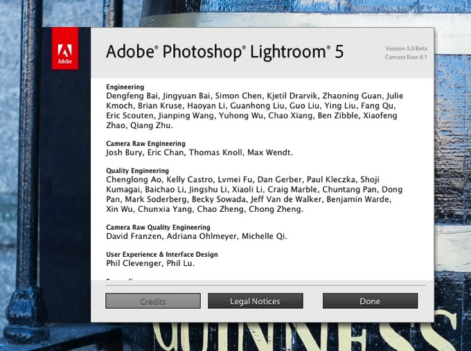 Lightroom5 beta info