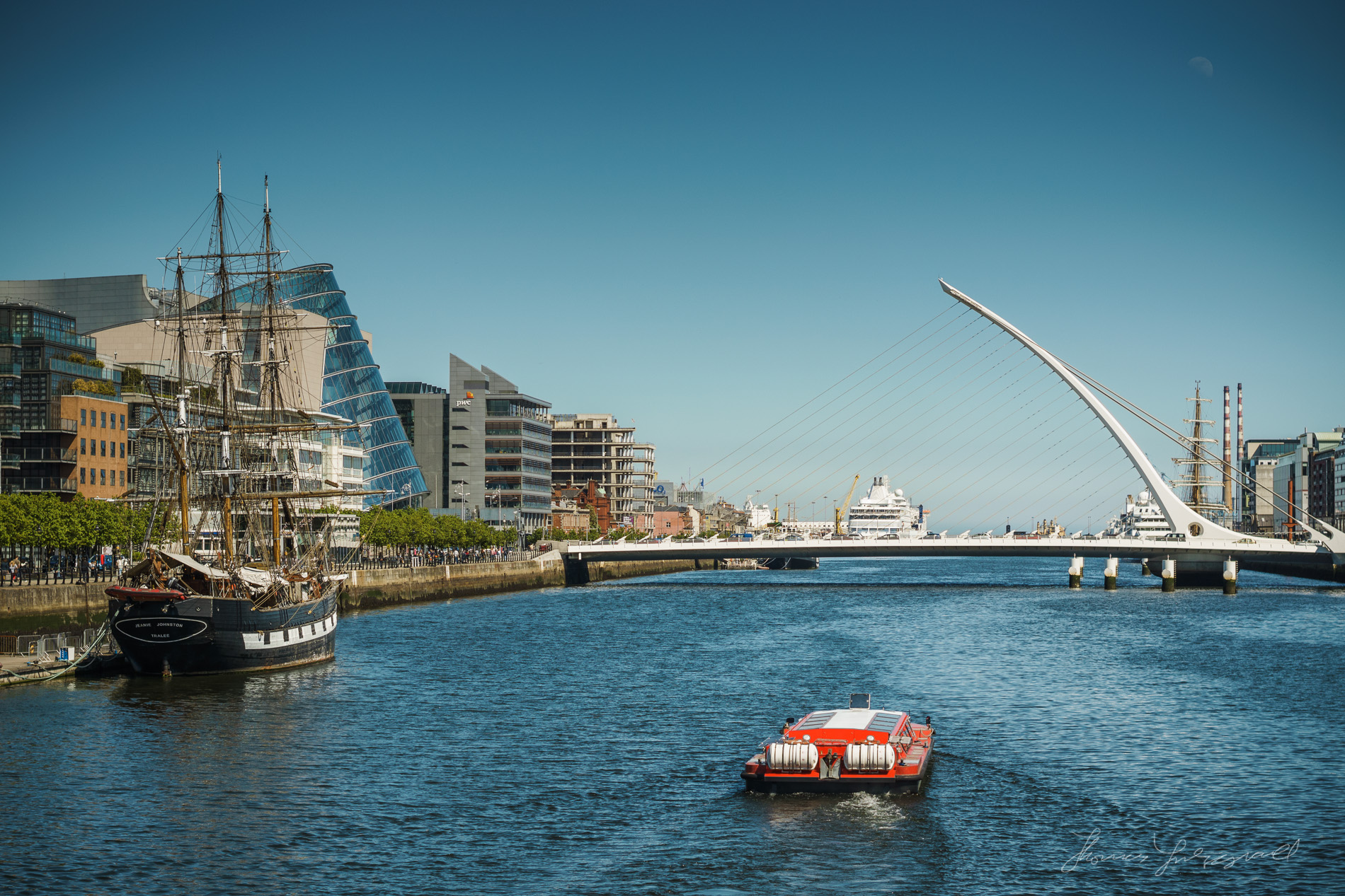 Modern Dublin and the River Liffey