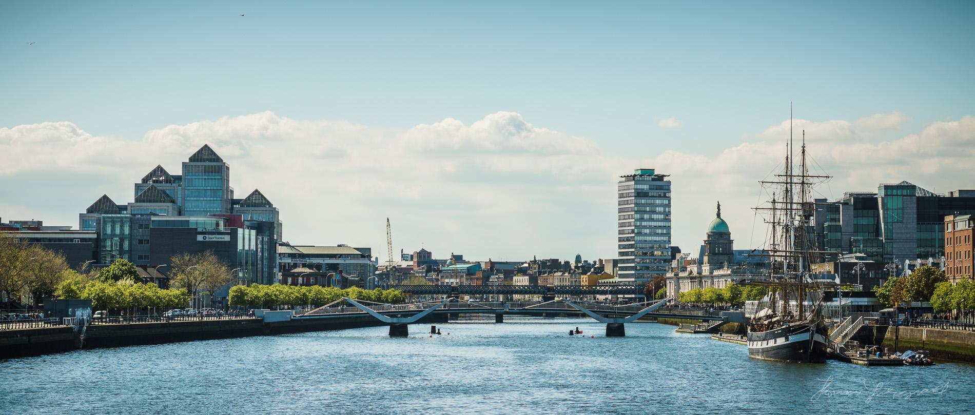 Modern Dublin City Skyline