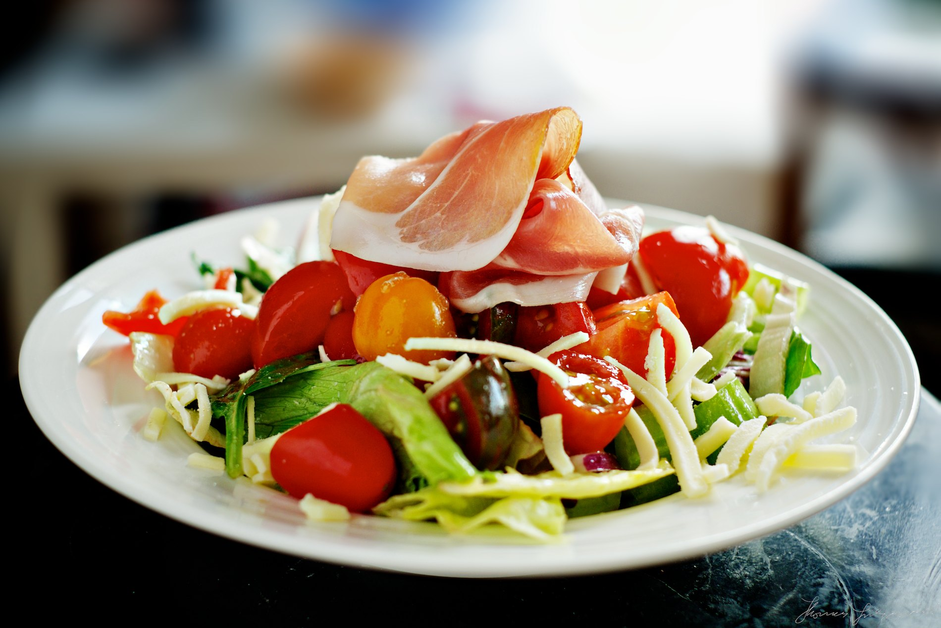 Parma ham and Tomato Salad