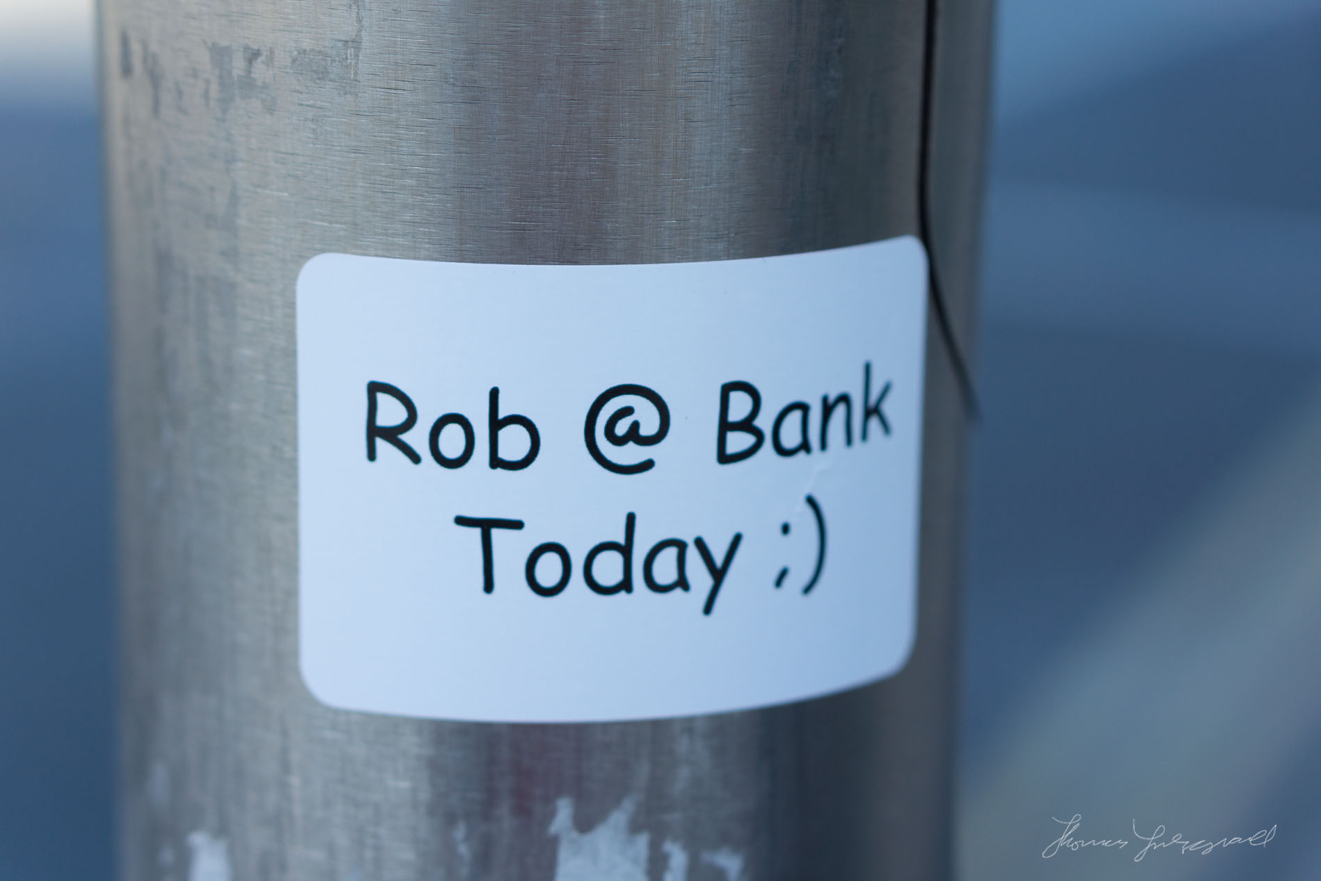 Rob at Bank