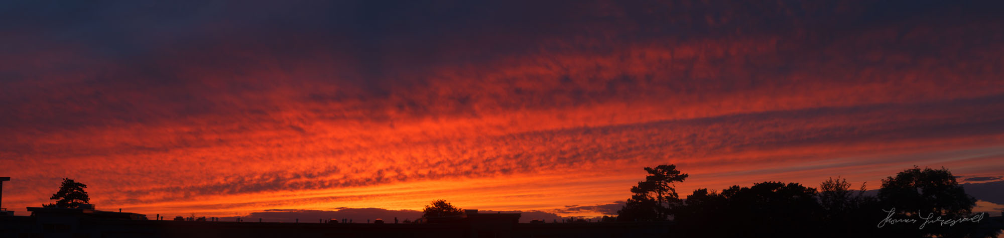 Amazing sky over Dublin tonight. Panorama from 8-9 shots!