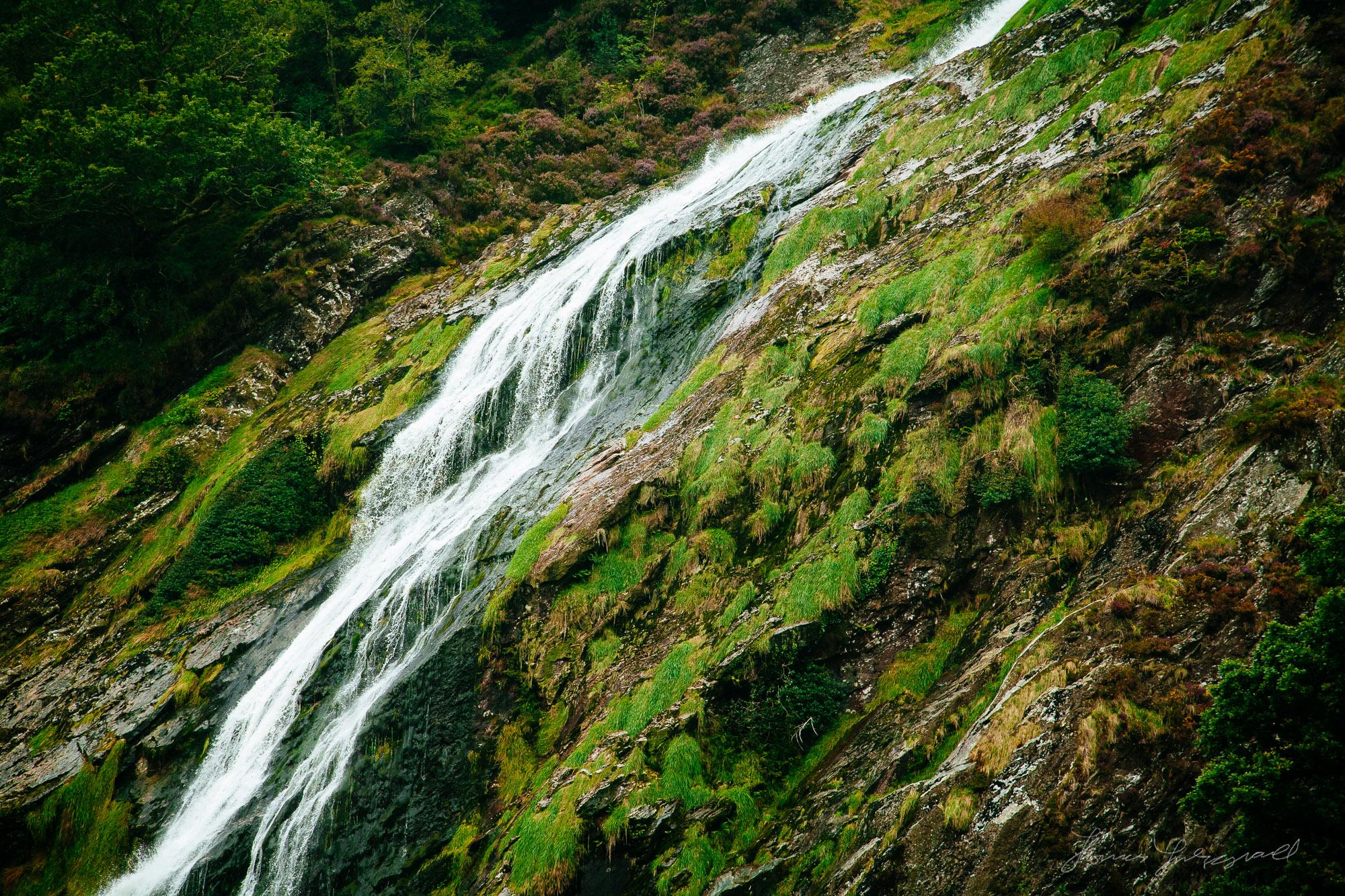 Powerscourt Waterfall in Co. Wicklow, Ireland