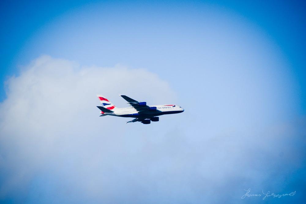 A380 flying over Dublin Yesterday