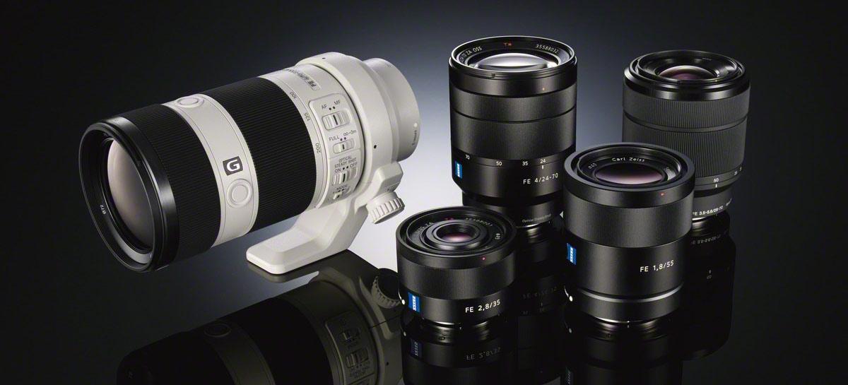 Sony FE lenses for full frae e-mount