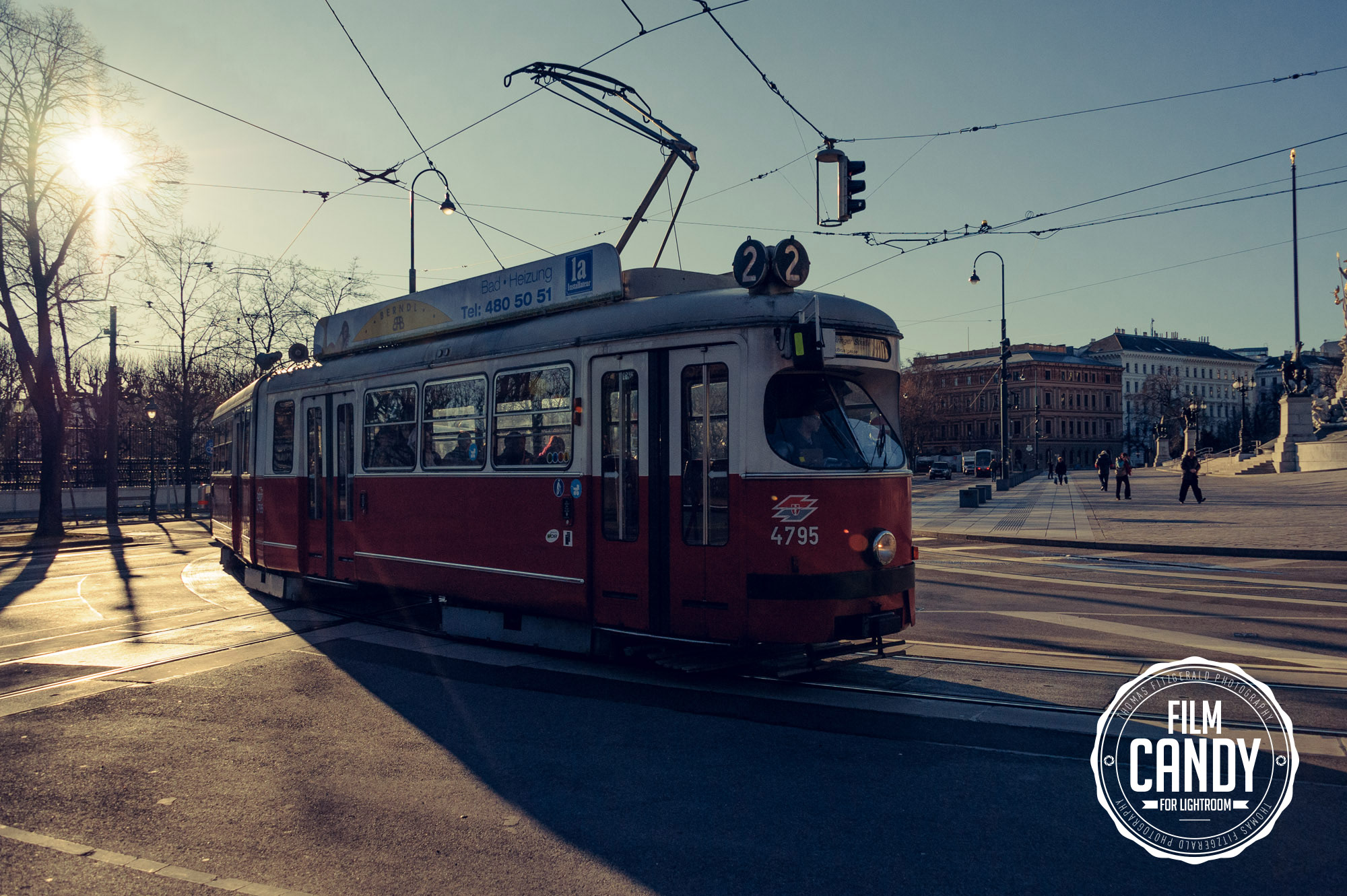 Vienna Tram - Processed with a beta version of Film Candy Develop Module Lightroom Presets