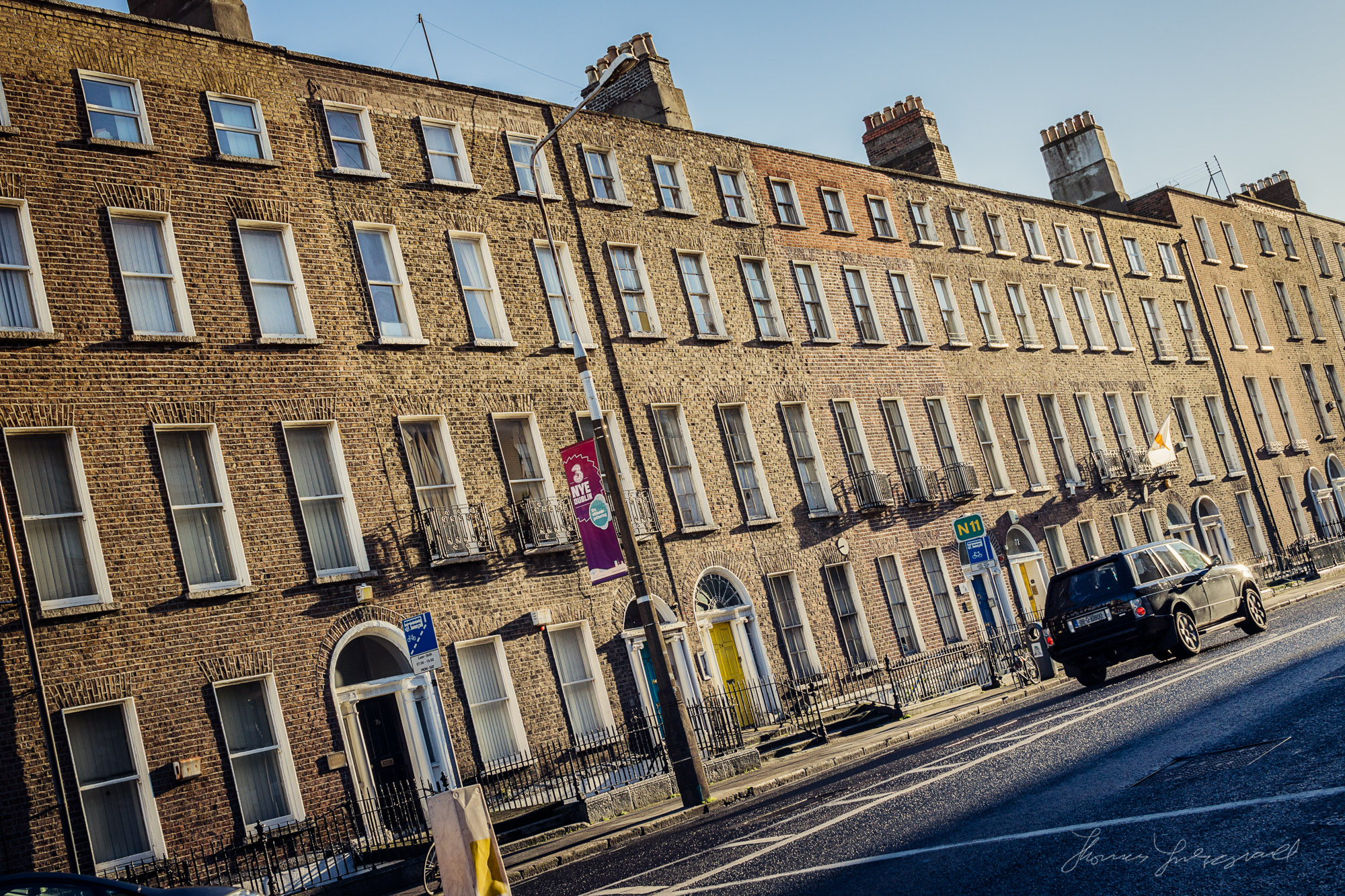 Harcourt Street in the Winter Sunshine