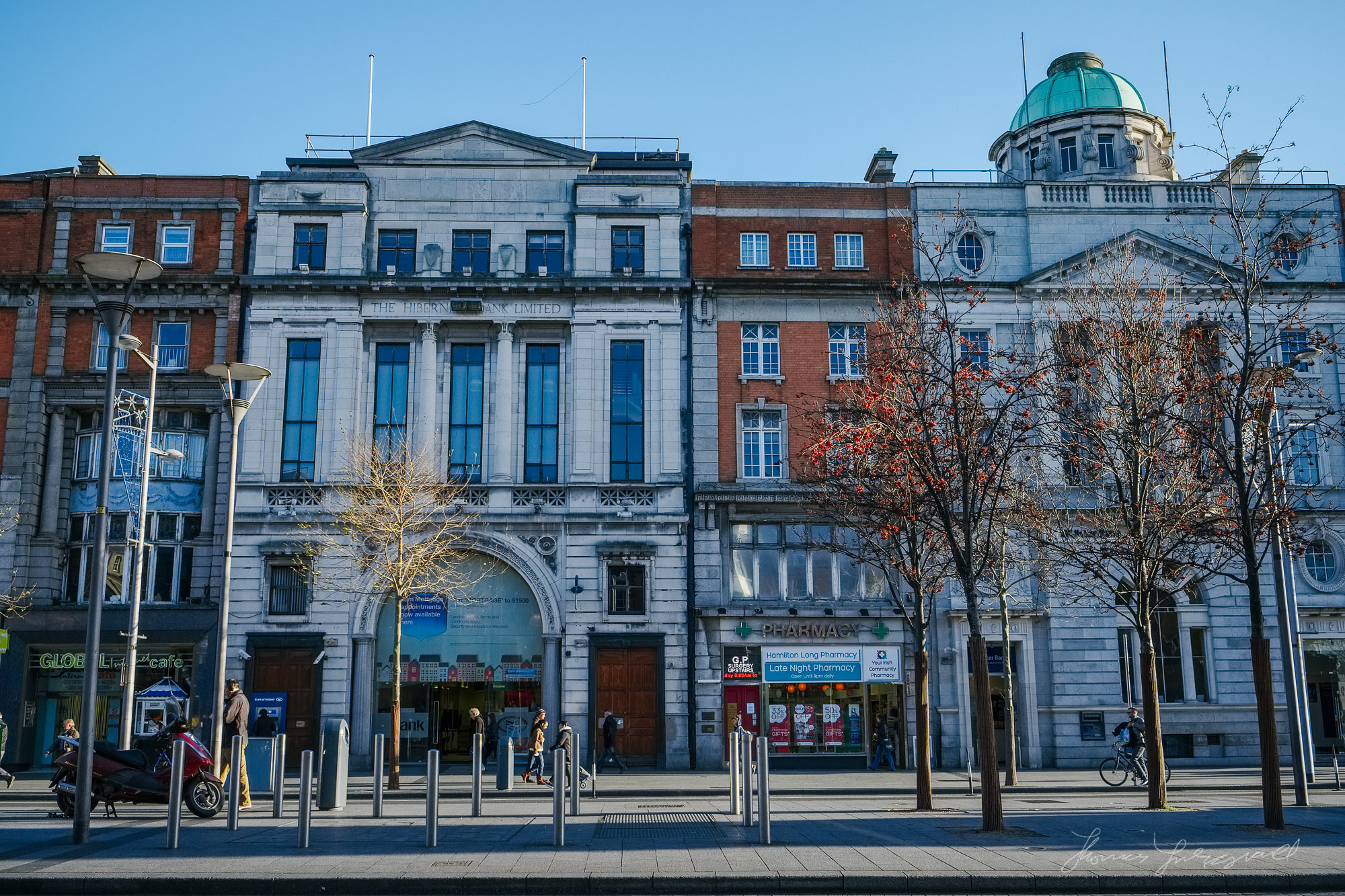 Buildings on O'Connell Street