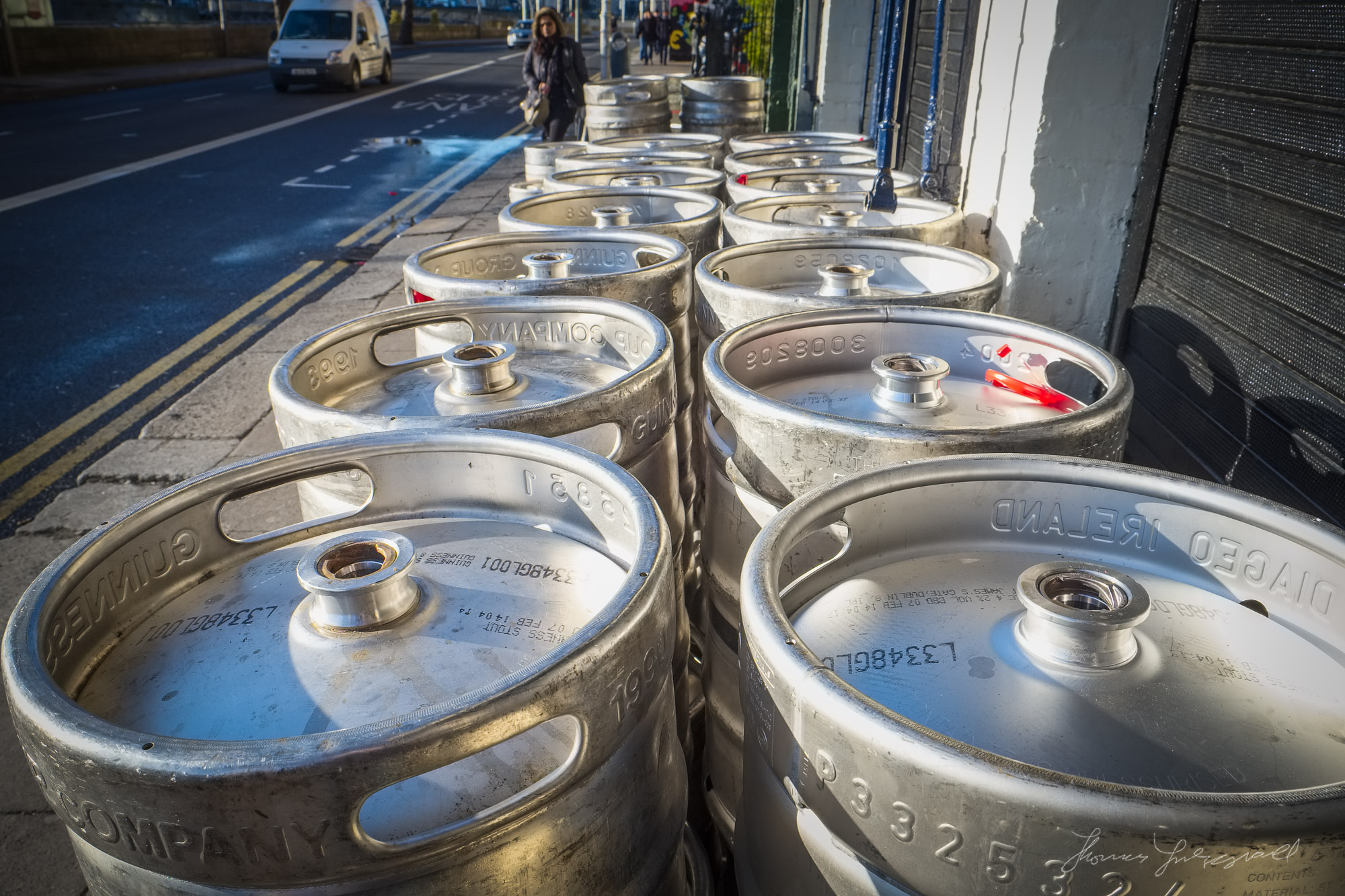 Beer Kegs on the Quays
