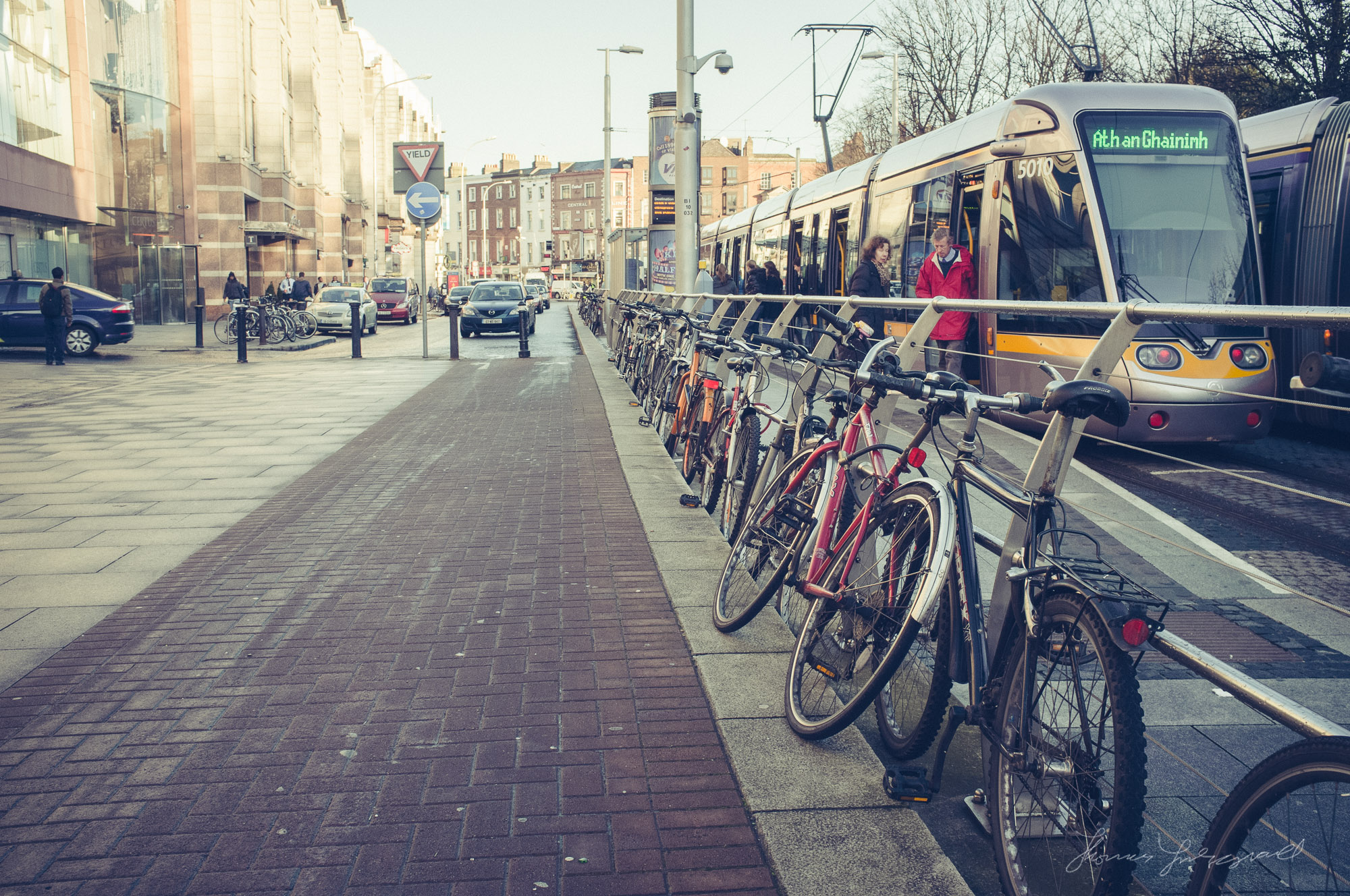 Bikes at the Luas Stop