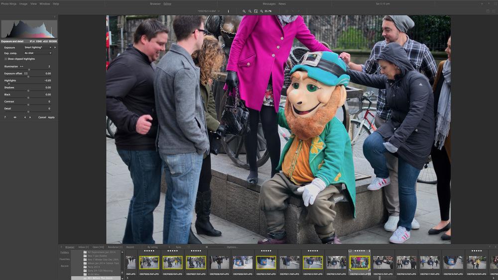 Here's the Photo Ninja Version, Notice the Leprechaun's Nose
