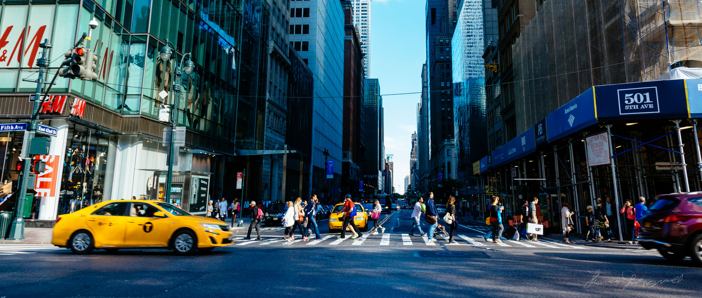 A Street Crossing in NYC