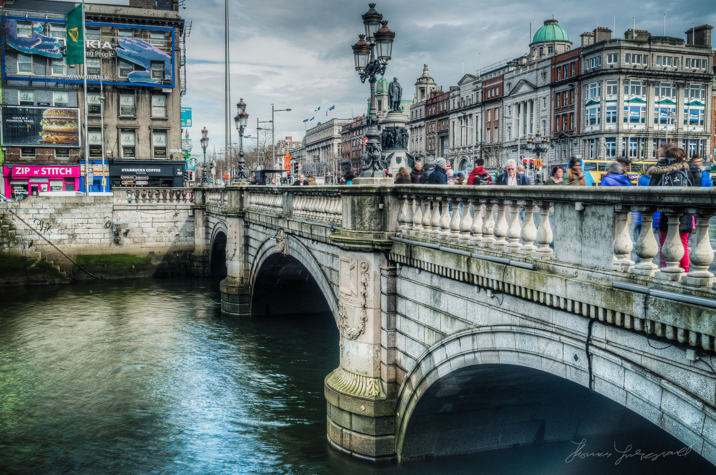 O'Connell Bridge and Liffey - HDR
