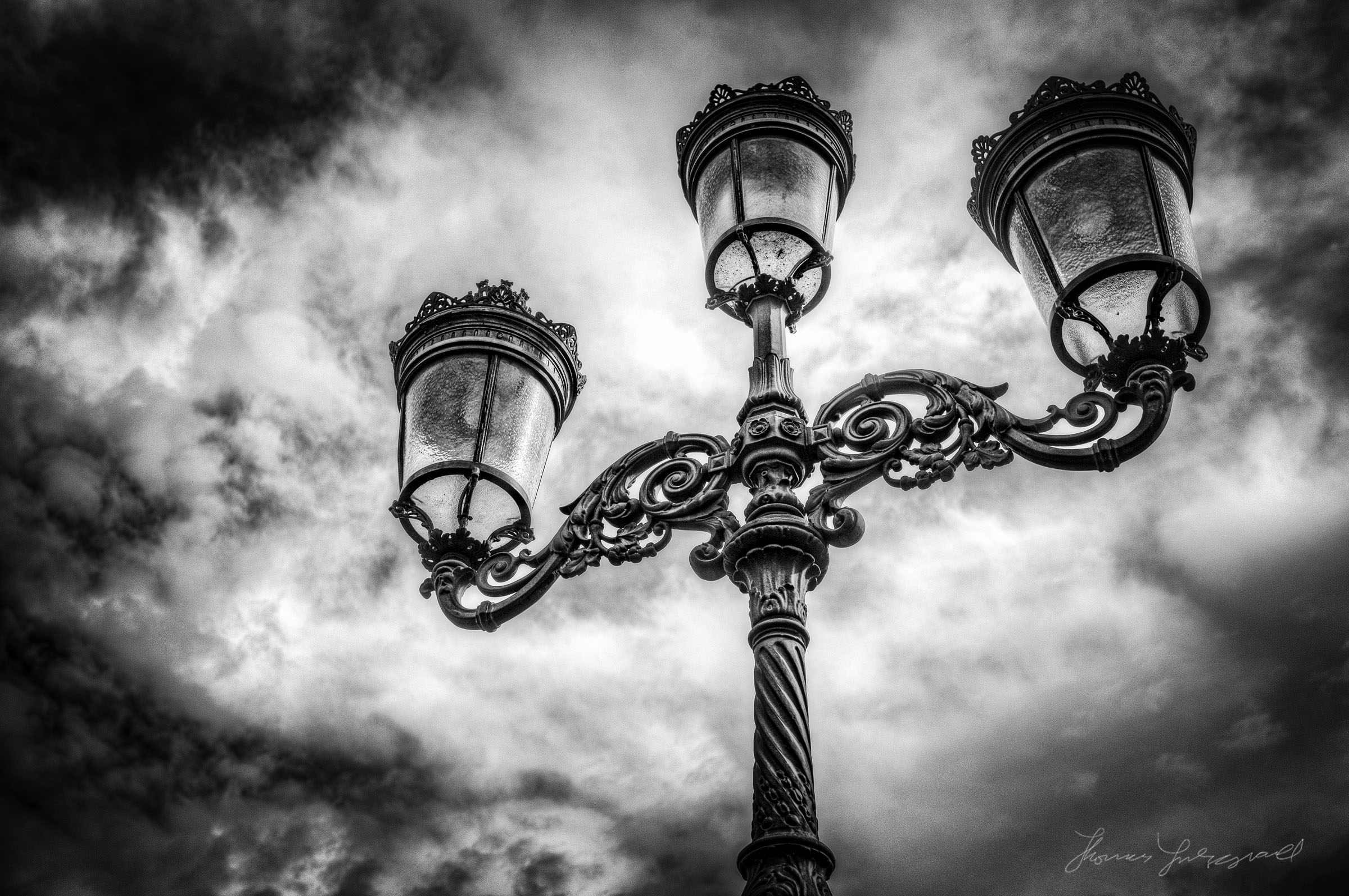 Dublin Lamppost - HDR shot with X100 and Processed with Quicklux for Lightroom