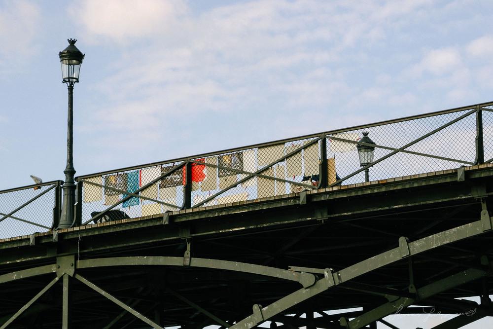Art on a bridge