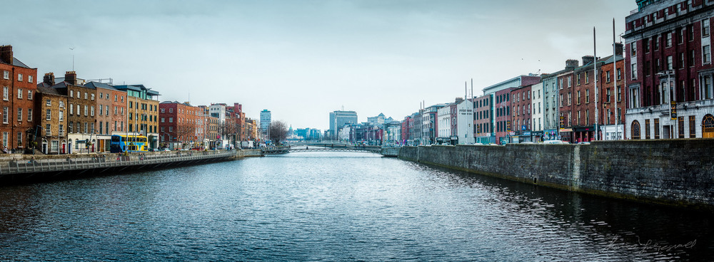 Panorama of the Liffey on a Sunny Spring day!