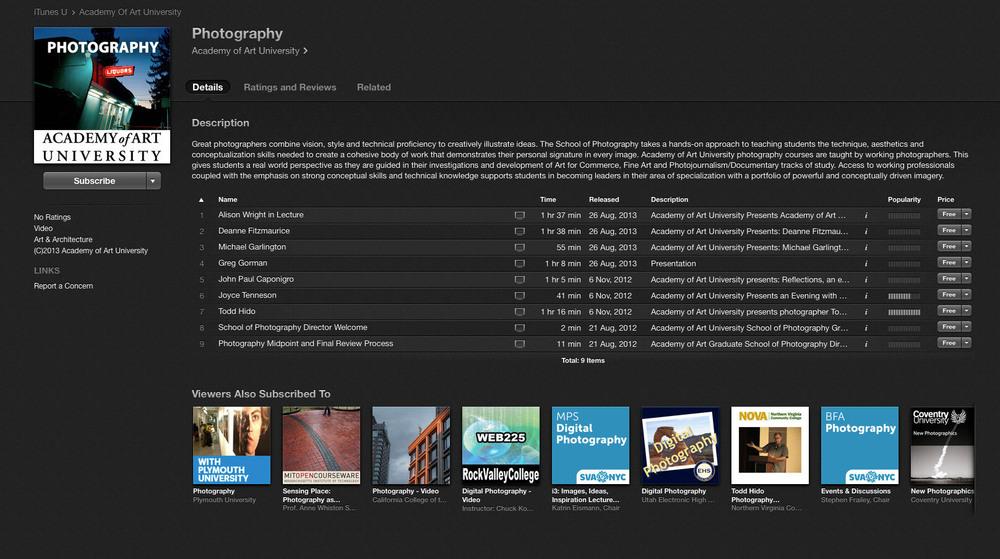 iTunesU-Screenshot