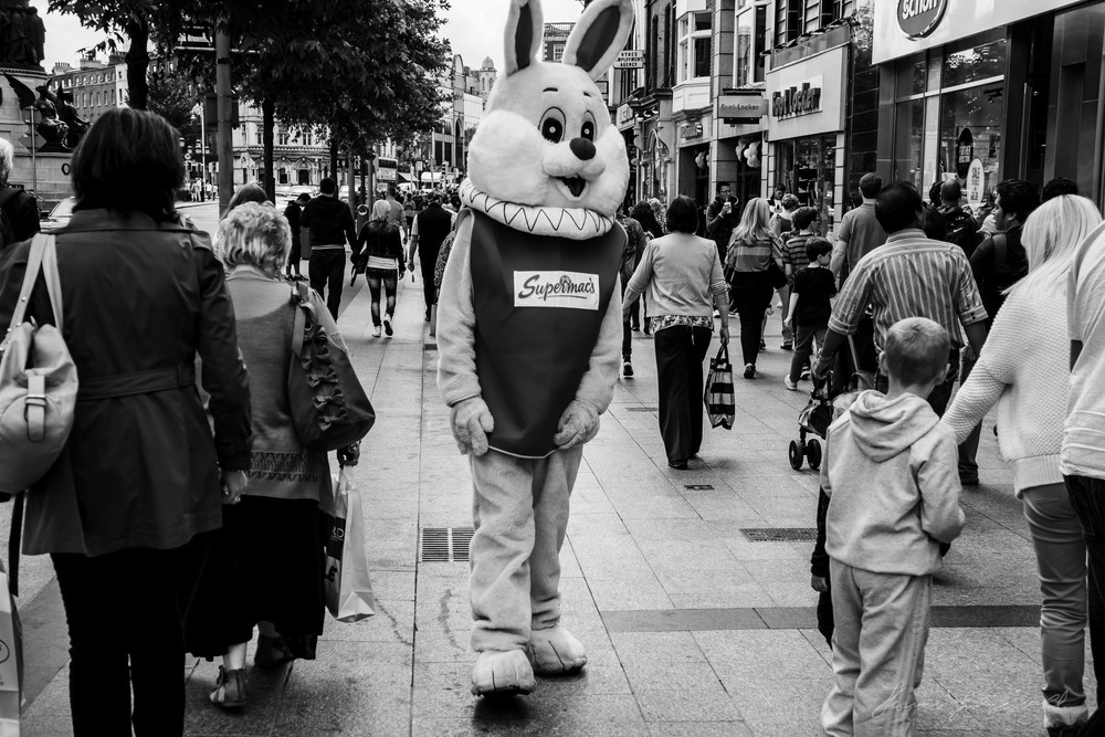 Supermac's Bunny on O'Connell Street