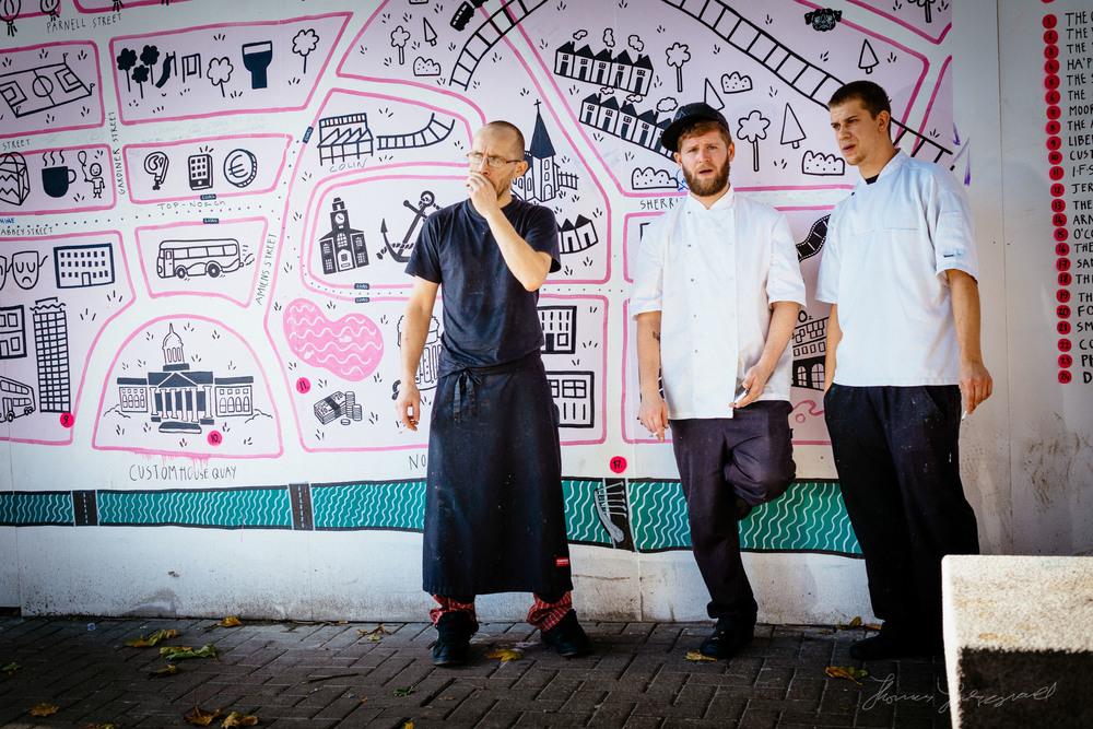 Chefs on a break