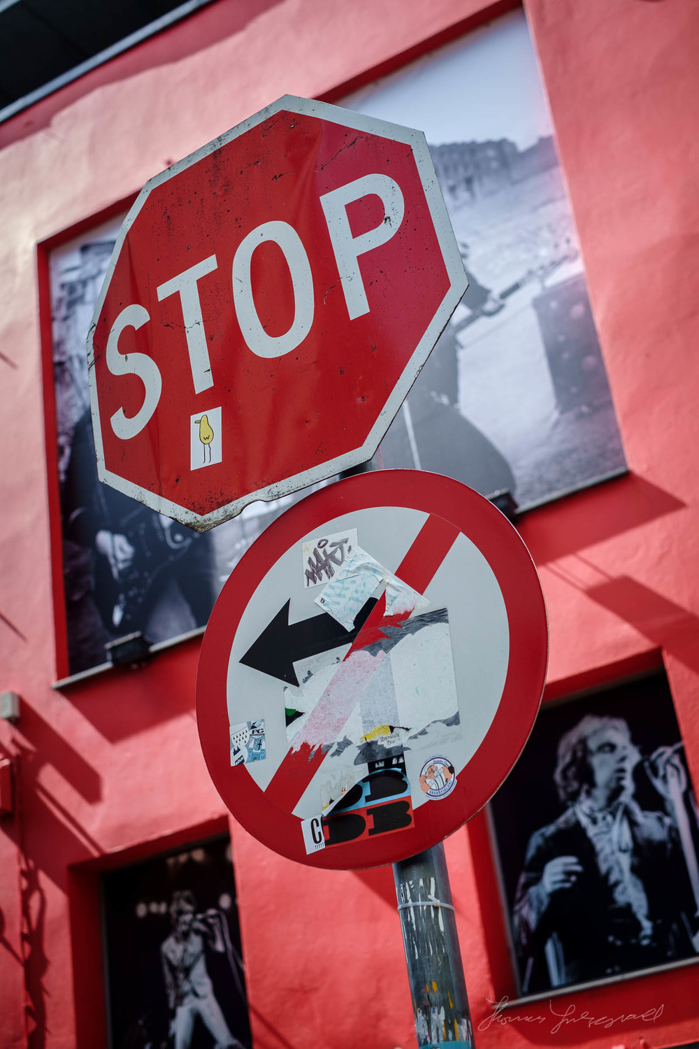 Stop Sign in Temple Bar