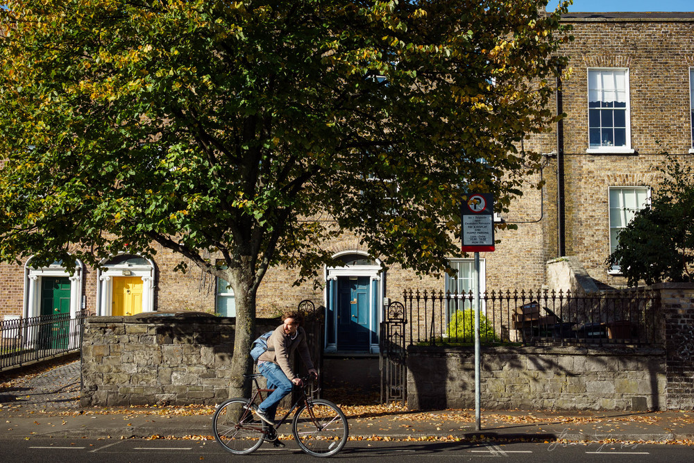 Guy on bike in Dublin City - Street Photography Diary