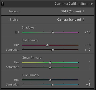 Lightroom Calibration Settings for Sony A6000