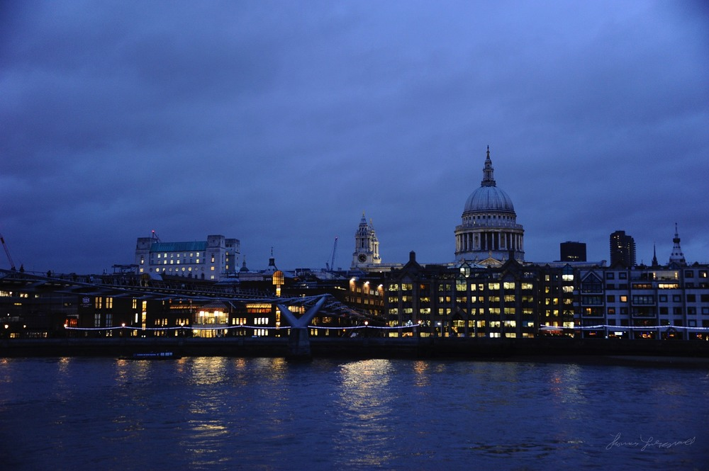 The London Millennium Bridge and St. Paul's Cathedral