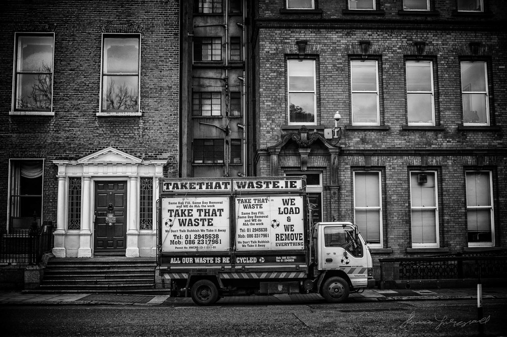 An old van on a Dublin Street - Street Photography