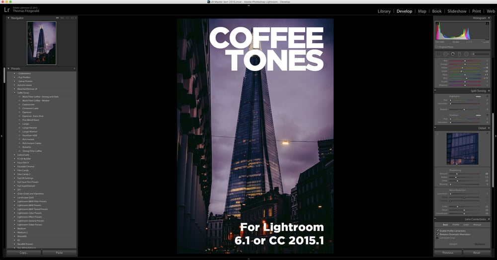 Coffee Tones - Presets for Lightroom