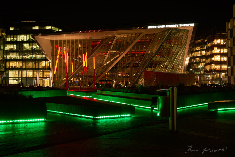 Bord Gáis Energy theatre at Night
