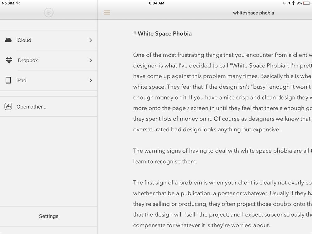 Byword-iPad
