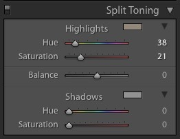 Adjusting the Highlights of the Split Tone
