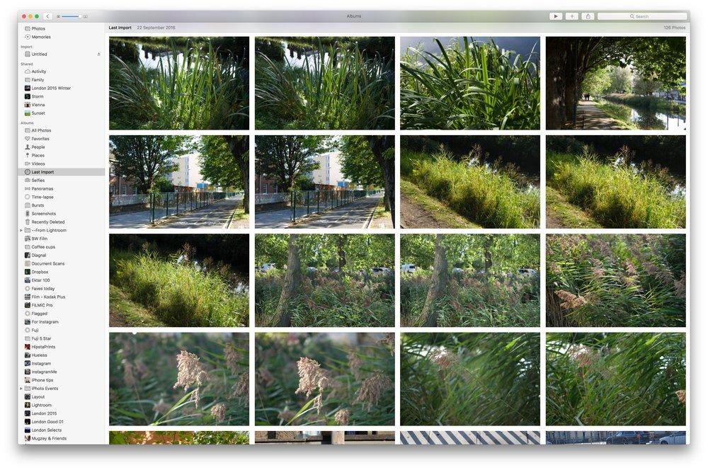 Apple Photos - Last Import Screen