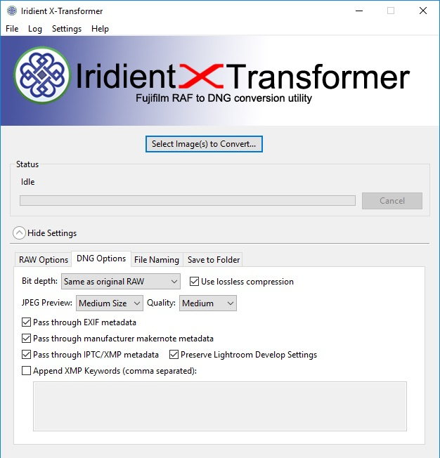 Iridient X-Trnasformer Windows Application