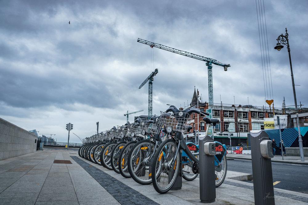 Dublin Bikes moody sky - Lightroom HDR