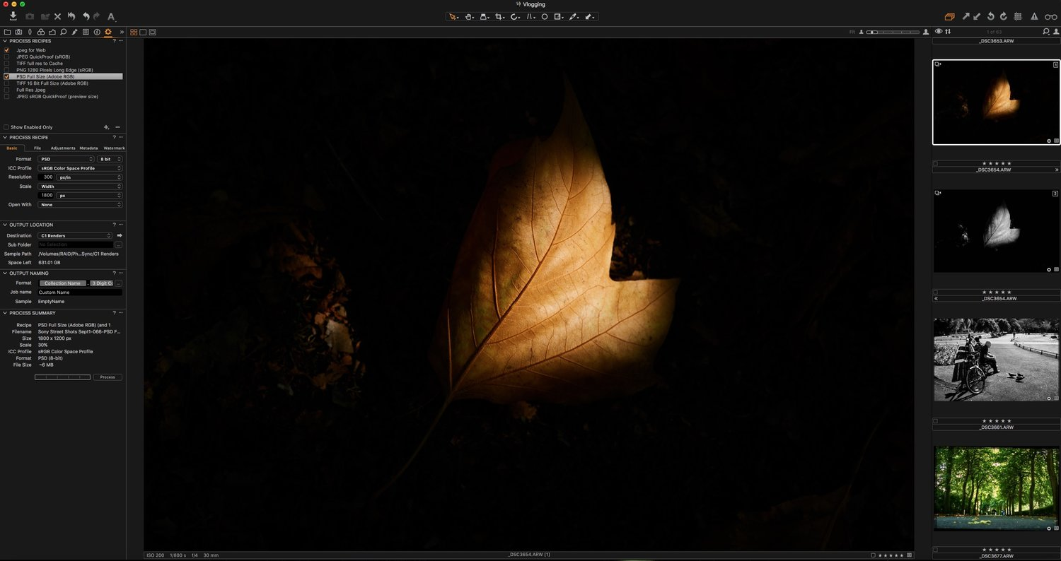 Sep 2 Capture One's Preview Problem and How to get Around it