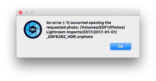HDR Image Dialog Error