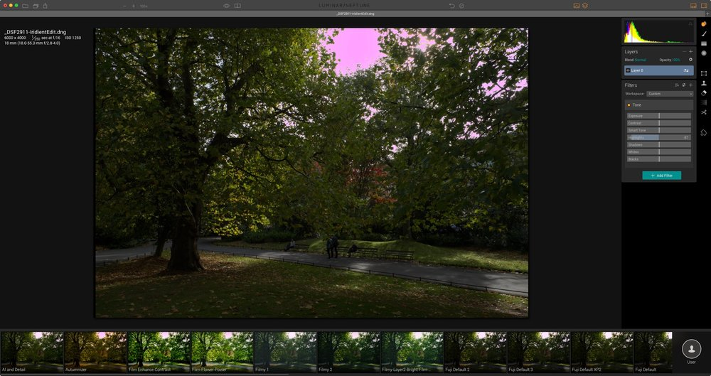 2017 Luminar with X-Transformer Pink Highlight Problem