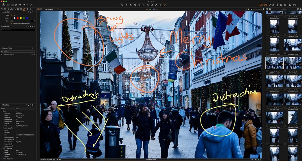 Capture One 11 Annotation Tools