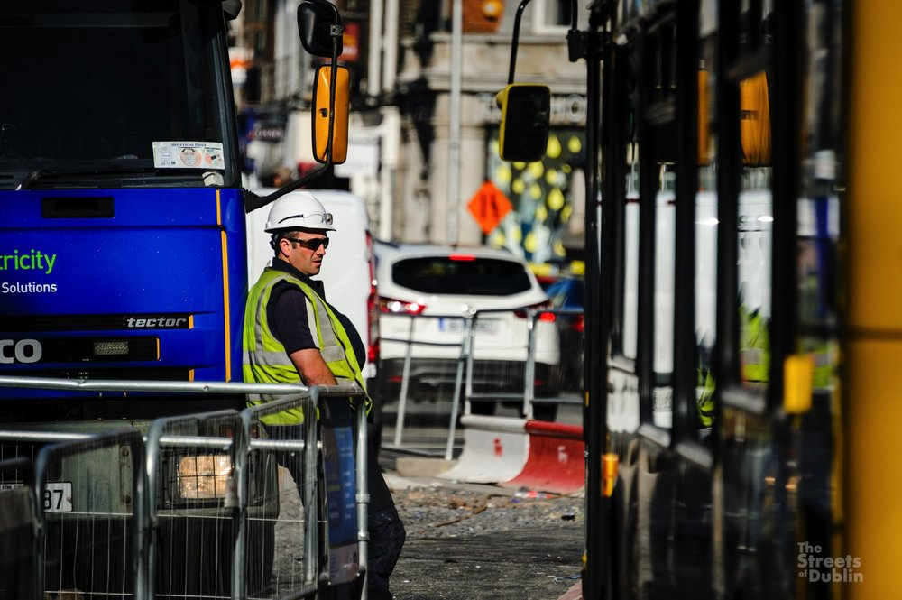Construction workers for the Luas Project