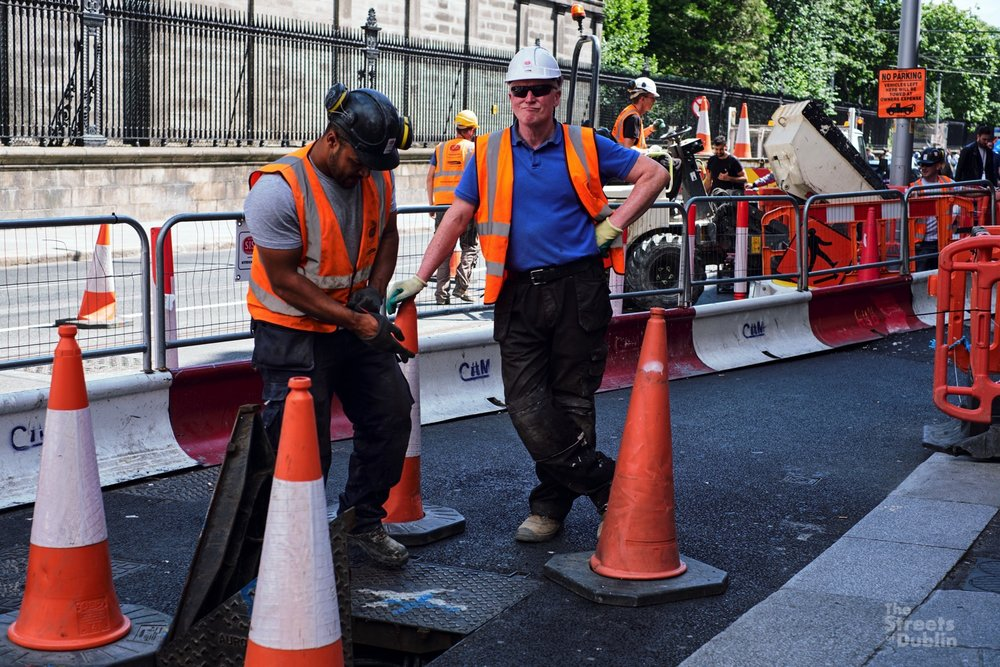 Luas construction workers
