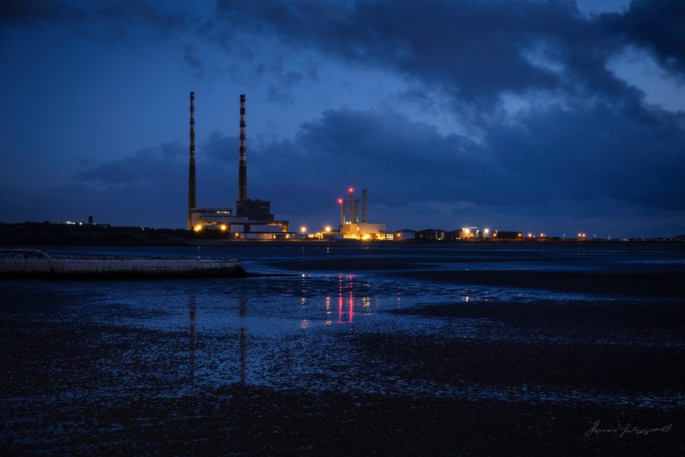 Poolbeg Powerstation before Dawn