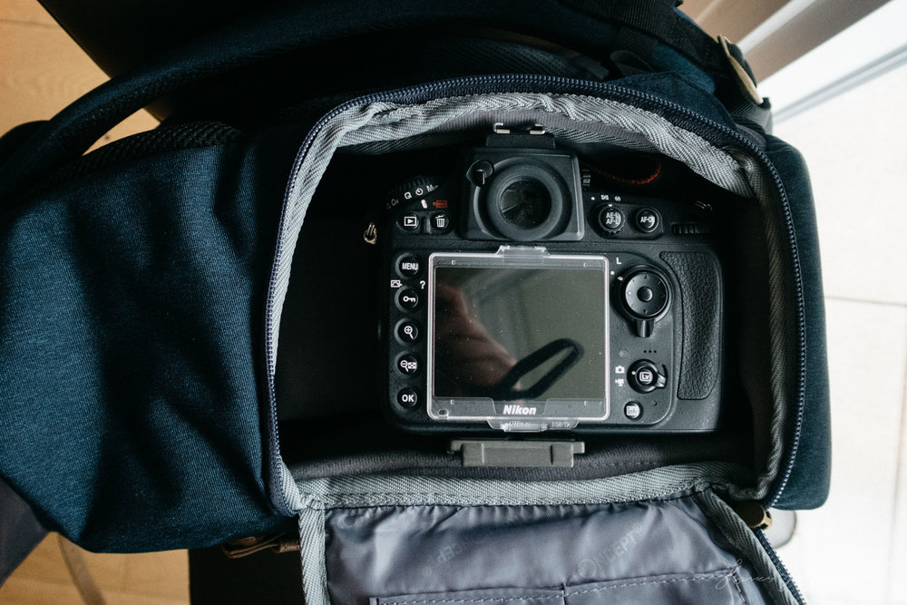 K&F Concept Bag Inside with D800 side pocketK&F Concept Bag Review by Thomas Fitzgerald