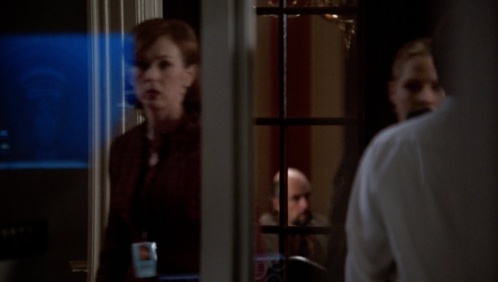 "The West Wing: ""Here Today"" Toby in the distance"